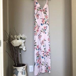 Lush Maxi Pink Floral dress in size Medium